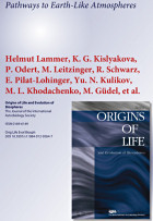"Pathways to Earth-like Atmospheres (Titelseite von ""Origins of Life and Evolution of Biospheres"", Springer Verlag)"